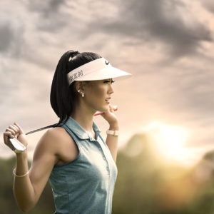 Michelle Wie golf portrait
